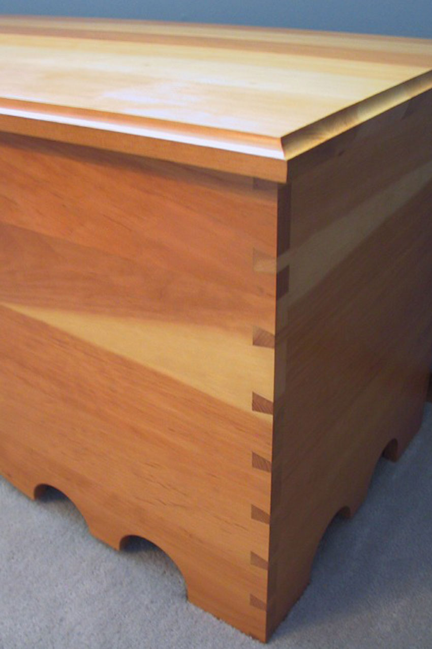 dovetailed blanket chest