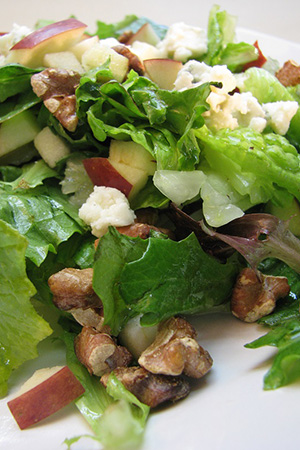 apple cheese salad with walnuts