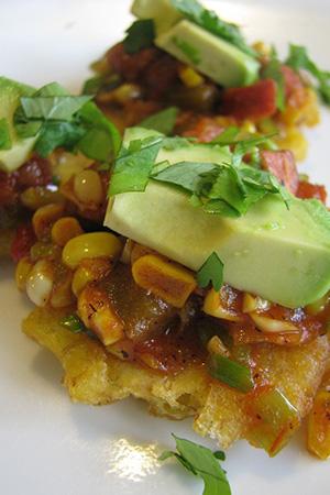 Mexican chorizo tostones
