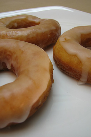 donuts with sugar glaze