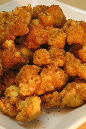 Hungarian breaded cauliflower