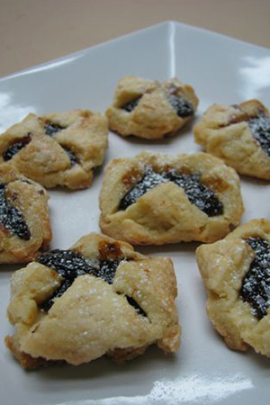 Hungarian cookies with homemade prune filling