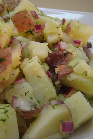 Hungarian potato salad with dill