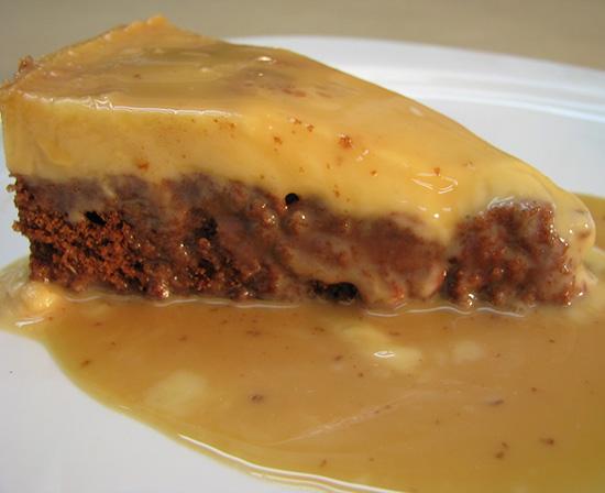 Mexican chocoflan with goat milk cajeta