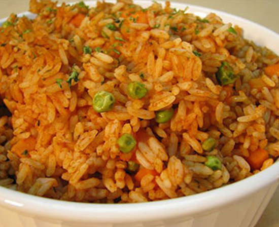 Mexican tomato rice with jalapenos