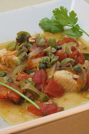 Mexican salmon a la Veracruzana