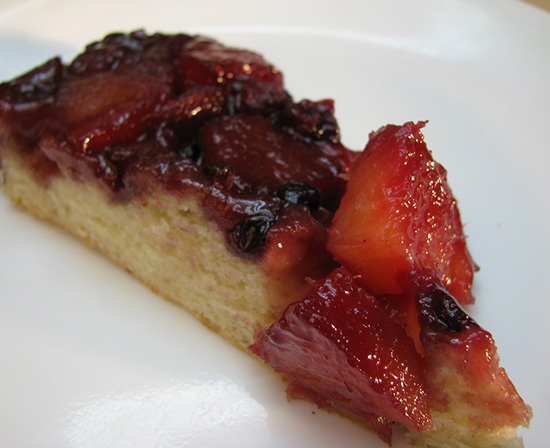 Mexican pineapple berry skillet upside down cake