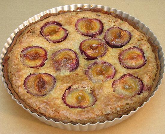plum almond (frangipane) tart