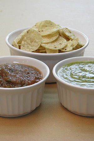 salsa roja & salsa verde