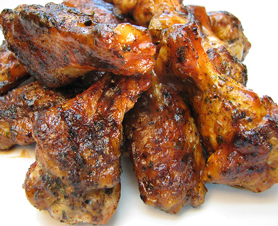 blackened spicy barbequed chicken wings