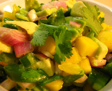 avocado mango pico de gallo