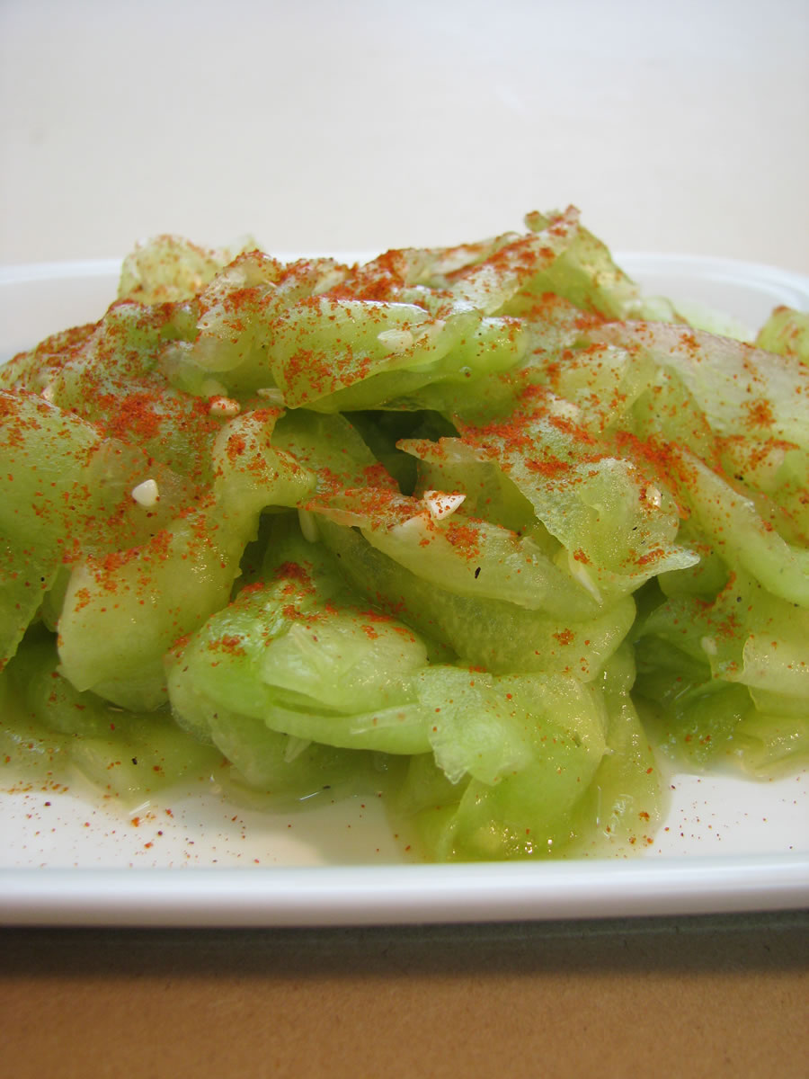 Shaved Cucumber Salad with garlic, vinegar and smoked paprika