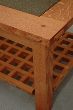 pinned through mortise-and-tenon joinery