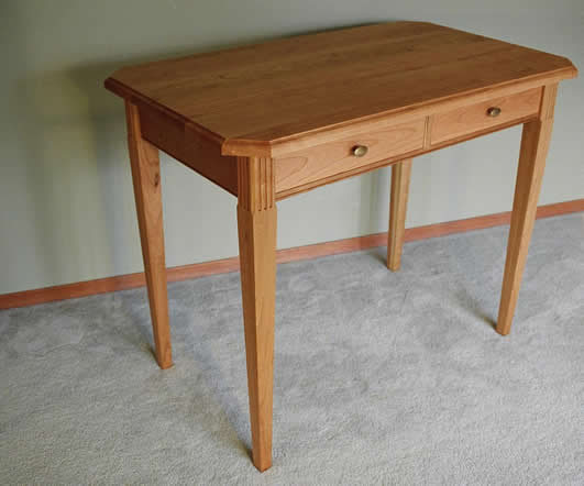 Tapered Leg Foyer Table with Drawers