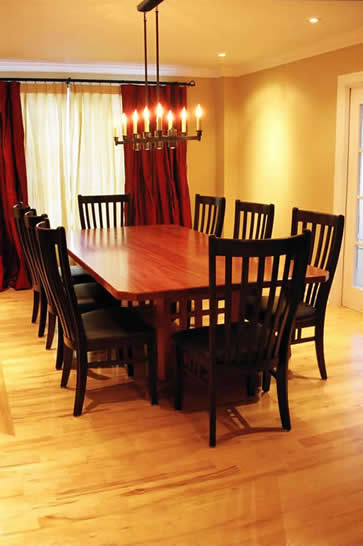 peruvian mahogany dining table