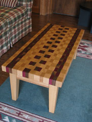 End Grain Butcher Block Table