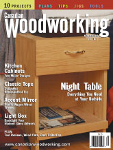 Canadian Woodworking - April/May 2003