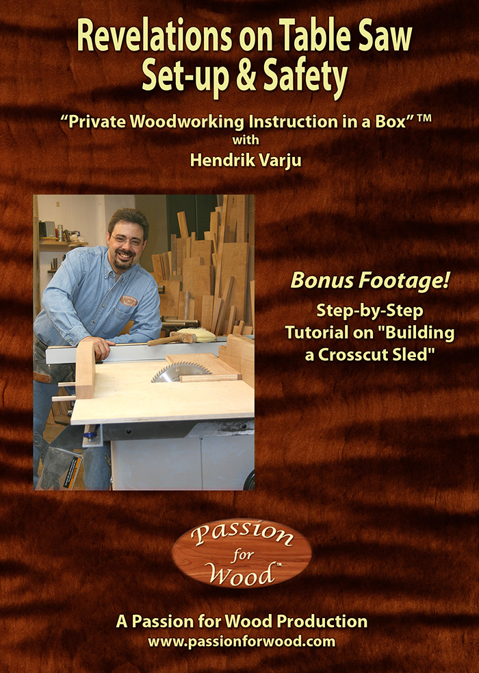 Revelations on Table Saw Set-up & Safety - Dvd Cover