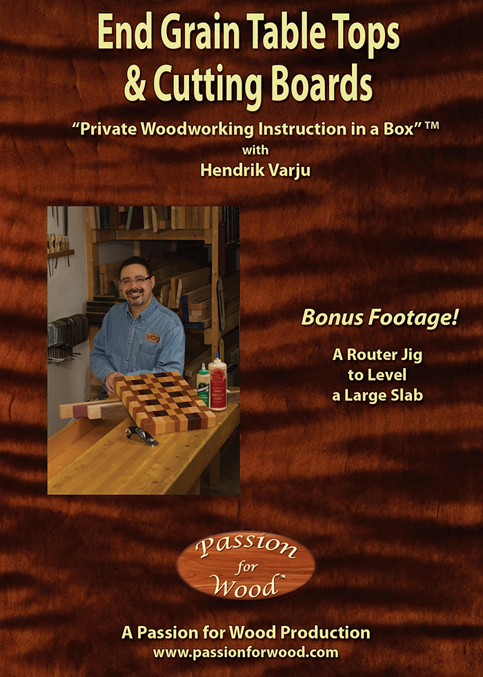 End Grain Table Tops & Cutting Boards - Dvd Cover
