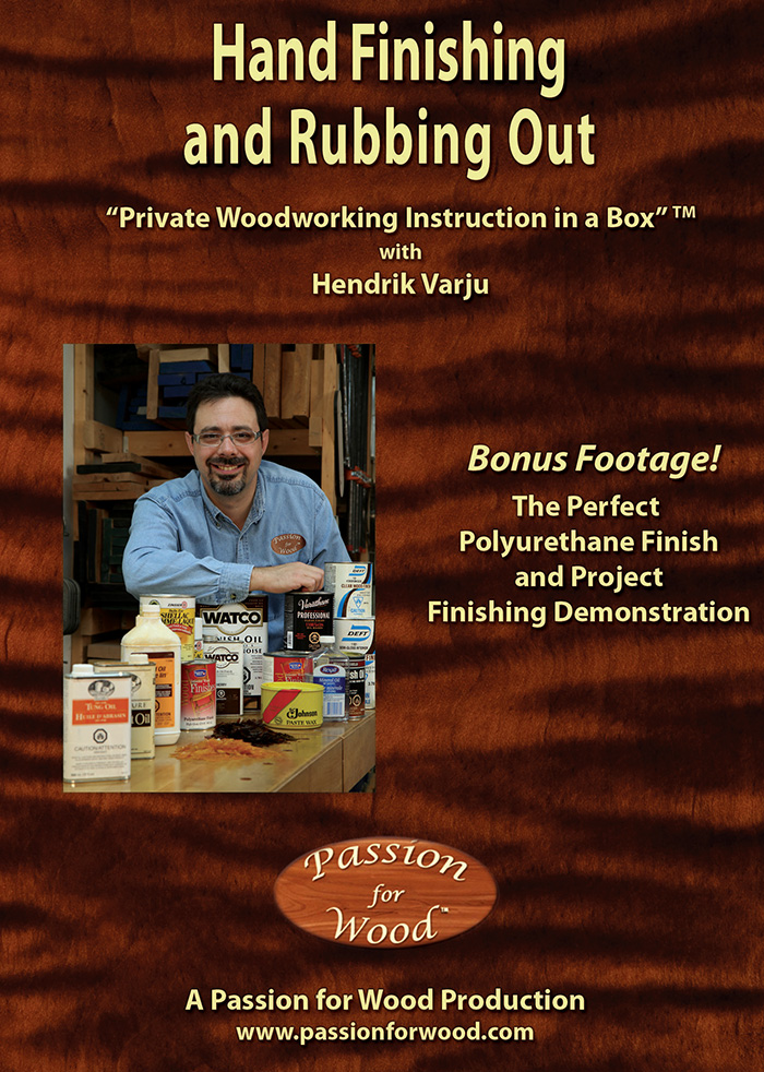 Hand Finishing and Rubbing Out - Dvd Cover