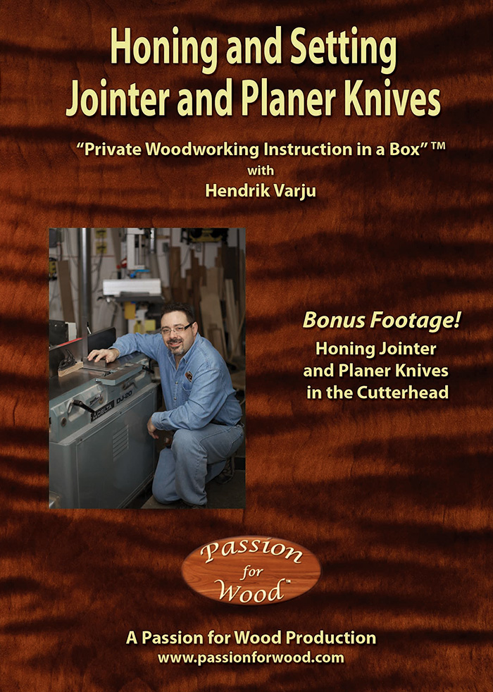 Honing and Setting Jointer and Planer Knives - Dvd Cover