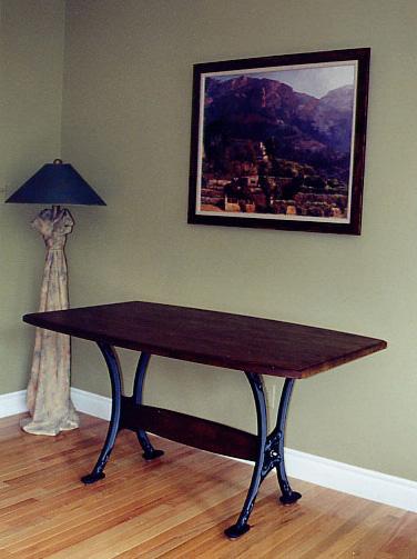 Iron-Leg Trestle Table