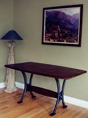 Iron-Leg Trestle Table