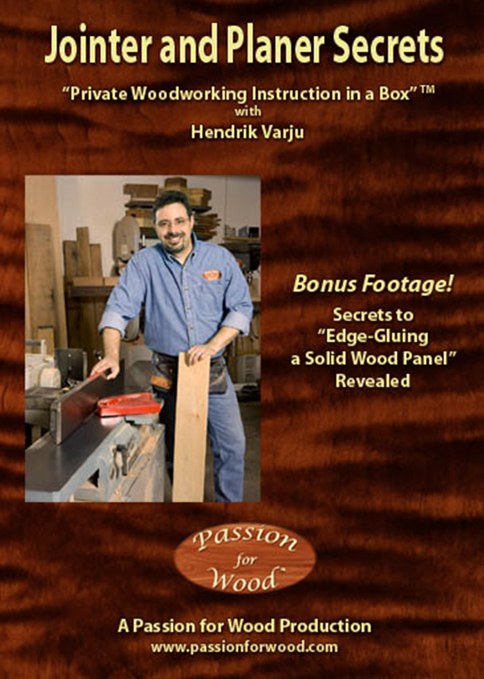 Jointer and Planer Secrets - Dvd Cover