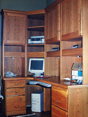 L-Shaped Computer Desk with Hutches