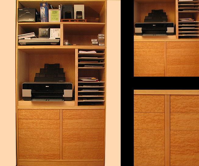 Maple Built-in Closet Cabinet