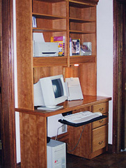 Matching Compact Computer Desk with Hutches