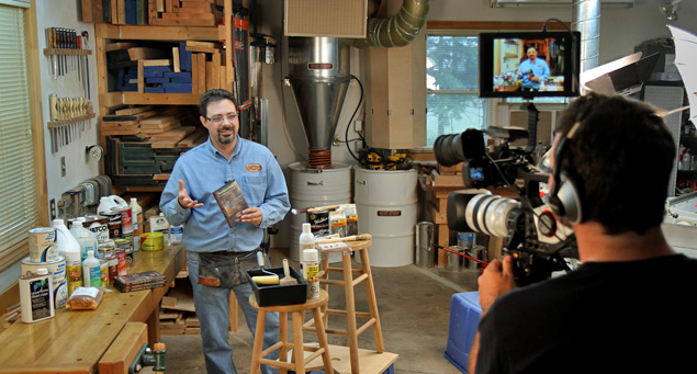 """Lights, Camera, Action!"" in the Passion for Wood workshop."