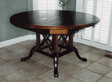 Plank-Top Table with Bird-Cage Pedestal
