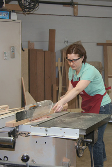 ripping on the table saw