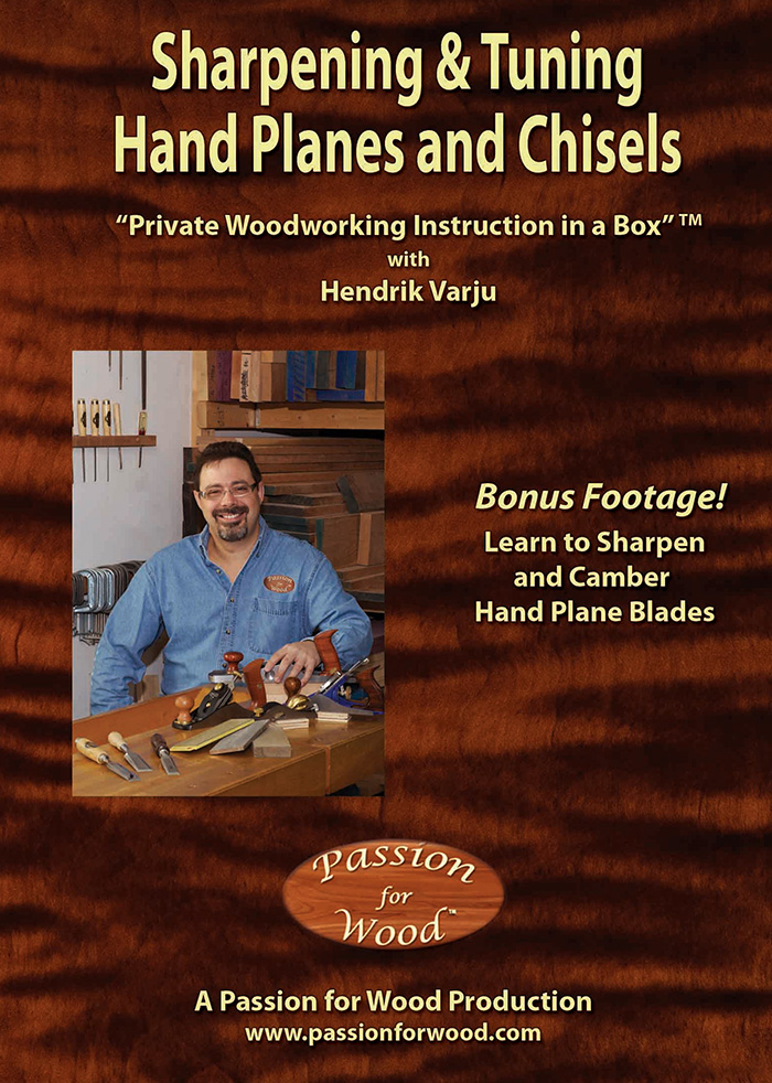 Sharpening and Tuning Hand Planes and Chisels - Dvd Cover