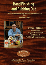 Hand Finishing and Rubbing Out - DVD