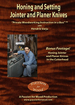 Honing and Setting Jointer and Planer Knives - DVD