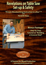 Revelations on Table Saw Set-up & Safety - DVD