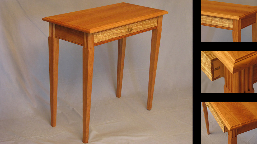 Tapered Leg Side Table With Drawer