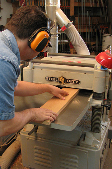 using thickness planer