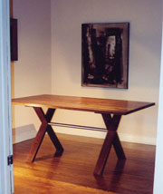 X-Shaped Trestle Table