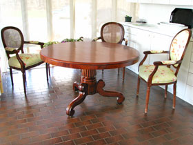 Mahogany Tilt-Top Dining Table