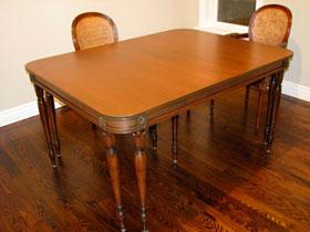 10 Leg Walnut Dining Table