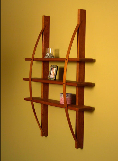 Arc Supported Shelves