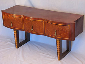Antique Mahogany Curved Front Cabinet
