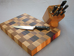 Cutting Board and Knife Block Set