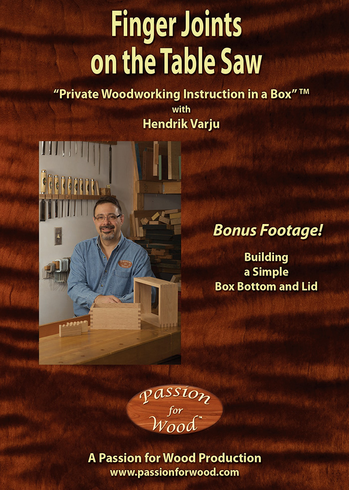 Finger Joints on the Table Saw - Dvd Cover