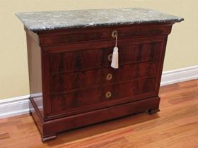 Antique Mahogany-Crotch Sideboard