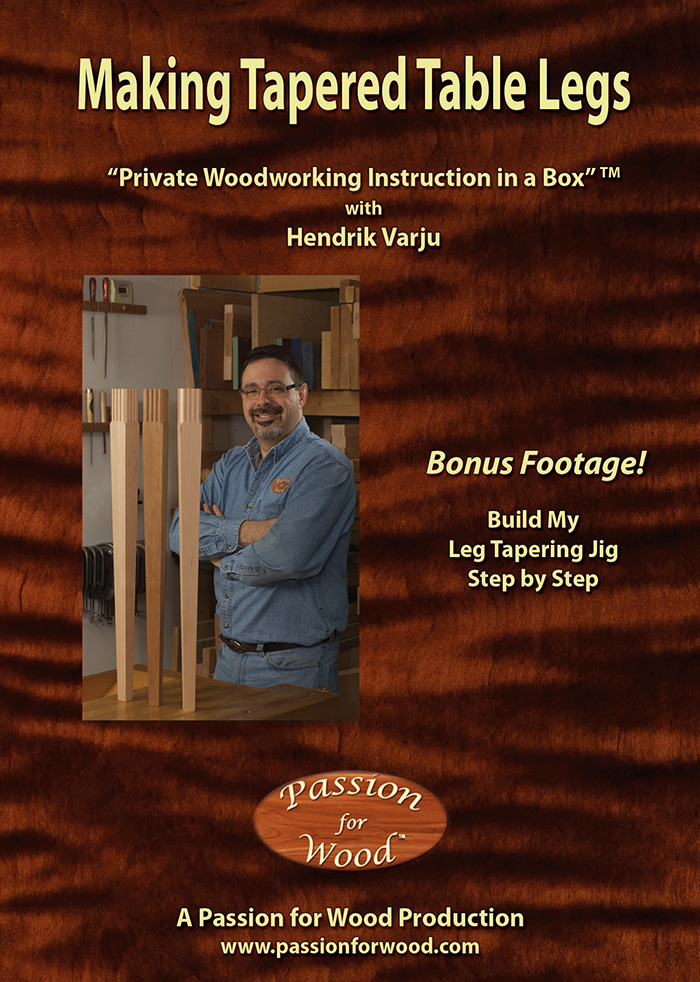 Making Tapered Table Legs - Dvd Cover