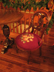 Carved Mahogany Occasional Chair